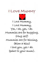 Home > songs worksheets > I love mummy poem