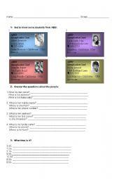 English worksheet: Activity for elementary students
