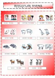 English Worksheets: Plurals 2/4