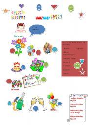 English worksheet: Birthday party!