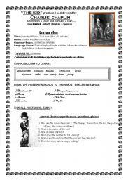 English Worksheets: THE KID (Film by Charlie Chaplin) WORKSHEET
