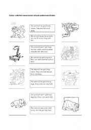 English Worksheets: Animals and characteristics