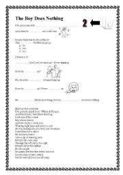 English Worksheet: The Boy Does Nothing - Song by Alesha Dixon