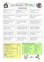 English Worksheet: Let�s talk about MOVIES