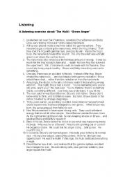 English Worksheets: Green Anger text about the Hulk