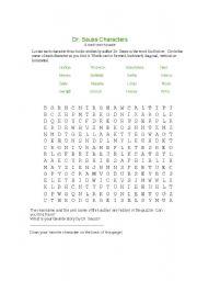 English Worksheets: dr. seuss