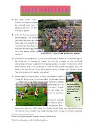 English Worksheet: Gnome sweet Gnome (and nightmare neighbours) - 2 Pages