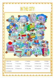 English Worksheets: IN THE CITY