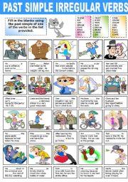 English Worksheet: PAST SIMPLE IRREGULAR VERBS (2)