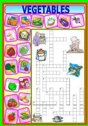 English Worksheet: Vegetables