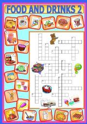 drinks worksheets worksheet crossword puzzle esl vocabulary english level eslprintables