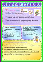 Conjunctions - Purpose Clauses