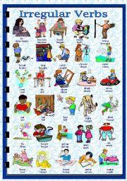 English Worksheet: Past Simple - Irregular verbs(1/2)