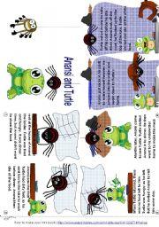 English Worksheets: Anansi and Turtle (mini_book)