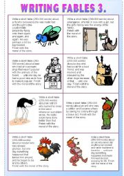 English teaching worksheets: Fables