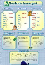 English Worksheet: Verb to Have got (animals)