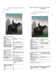 English Worksheets: The X-mas of a knight