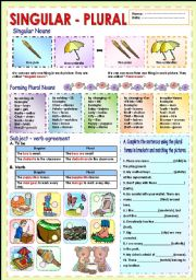 English Worksheets: Singular and plural of nouns
