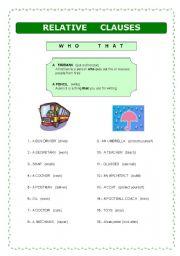 relative clauses exercises pdf 2 bachillerato