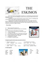 English Worksheets: The Eskimos