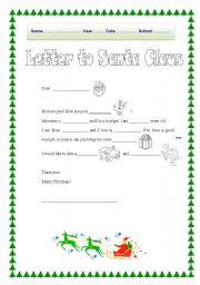 Letter to santa claus esl worksheet by serennablack letter to santa claus spiritdancerdesigns Images