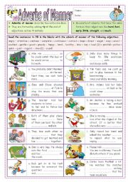 English Worksheet: Adverbs of Manner (part  2)