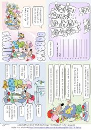 English worksheet: Bobby´s Family (Mini Book)