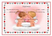 Diploma St Valentine´s Day