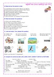 English Worksheets: TV programmes =)