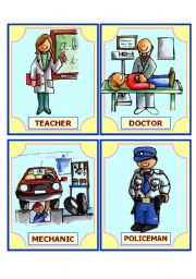 English Worksheets: OCCUPATION flashcards (2 pages) set  2 of 3