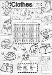 Wordsearch CLOTHES