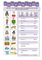 English Worksheets: COMPARATIVES & SUPERLATIVES (2/2): EXERCISE