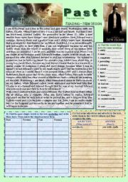 English Worksheet: Past Simple / reading-writing (Twilight-New Moon)