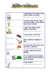 English Worksheet: Easter matching
