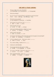 English Worksheets: Girl with a Pearl Earring movie worksheet (Introduction)
