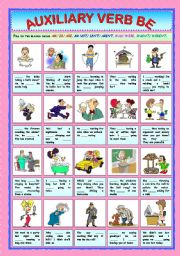 English Worksheets: Auxiliary Verb Be