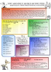 English Worksheets: Age