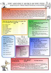 English Worksheet: Age