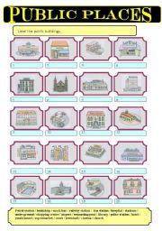English Worksheet: Public buildings (1)