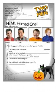 English Worksheets: Two and a Half Men