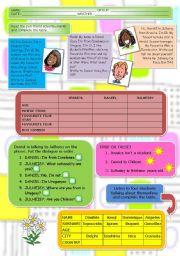 English worksheet: First test (11 / 5 / 09)