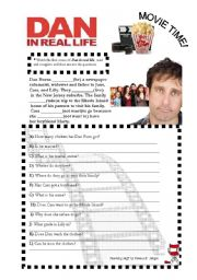 English Worksheets: MOVIE TIME! Dan in real life 1st part ELEMENTARY