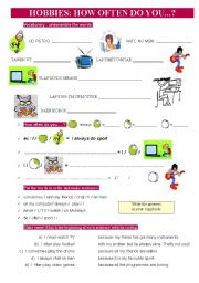 English Worksheets: HOW OFTEN do you... ? Hobbies