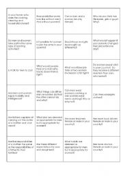English Worksheets: Gender Questions