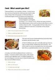 English Worksheet: Eating Out WS1 - What would you like?