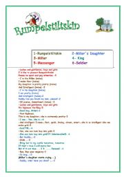 Worksheets Drama Worksheets english teaching worksheets drama rumpelstiltskin script