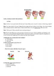 English Worksheets: The brothers