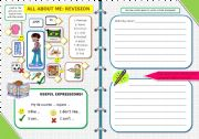 English Worksheets: ALL ABOUT ME: REVISION (17 / 5 / 09)