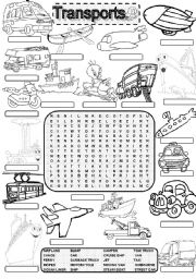 Wordsearch TRANSPORTS #2