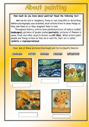 About paiting - Van Gogh